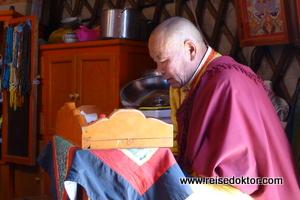 Mönch in der Mongolei
