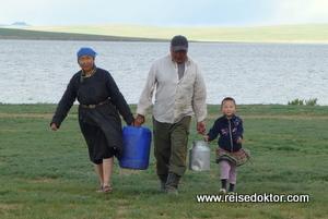 Mongolische Familie