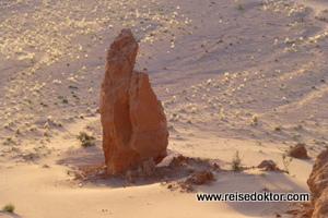 Rote Klippen in der Mongolei