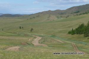 Strassen in der Mongolei