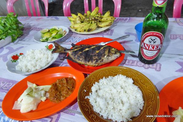 Abendessen in Makassar