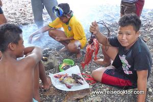 Kinder beim Fischen