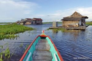 Bootsfahrt auf dem Danau Tempe in Sengkang