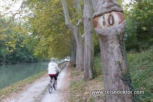 Fahrradweg am Canal du Midi