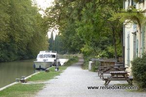 Hausboot am Canal du Midi