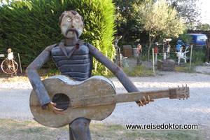 Skulptur am Canal du Midi