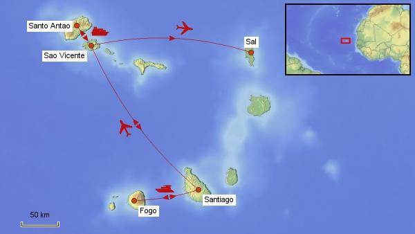 Reisekarte Kap Verde
