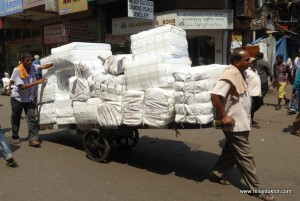 Lastentransport in Mumbai