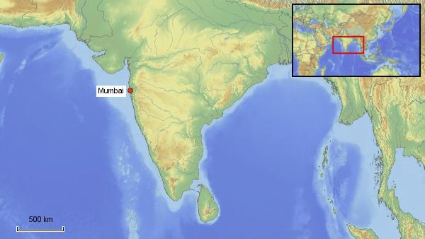 Reisekarte Mumbai