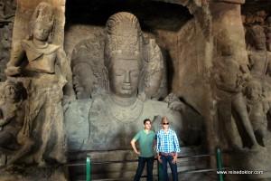 Der Höhlentempel auf der Insel Elephanta, Mumbai