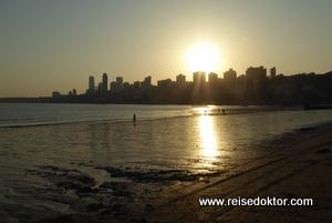 Sonnenuntergang in Mumbai