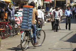 Straßenhändler in Mumbai
