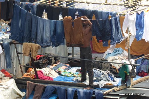 Wäscher im Dhobi Ghat