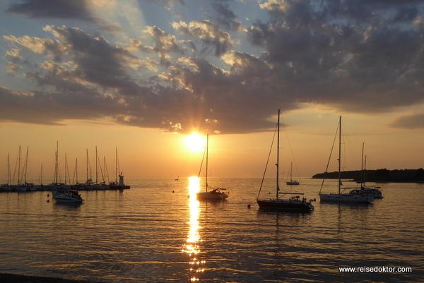 Novigrad Sonnenuntergang