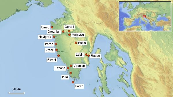 Reisekarte Istrien