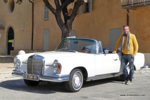 Mit einem alten Mercedes Cabrio nach Cannes