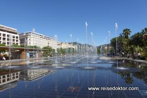Wasserspiele in Nizza