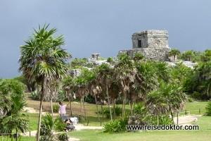 Direkt an der Karibikküste - die Mayastätte Tulum