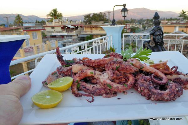 Abendessen in Santiago de Cuba