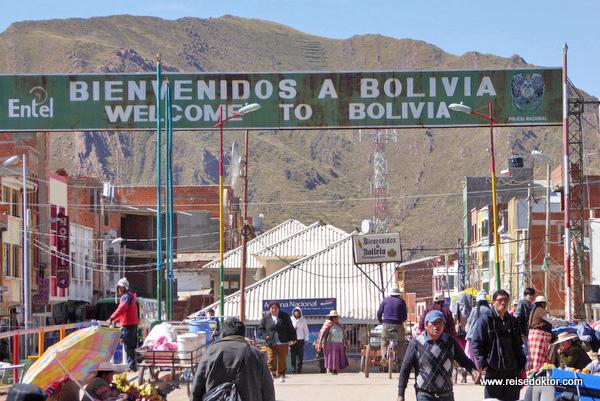 Grenze Peru Bolivien