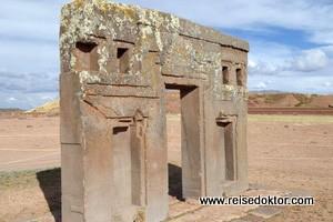 Die historischen Ruinen von Tiwanaku in Bolivien