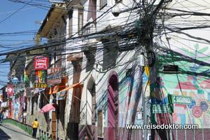 Straße in La Paz