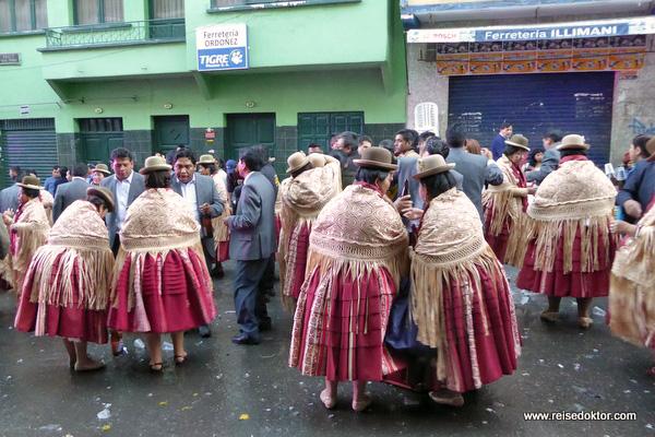 Straßenfest in Bolivien