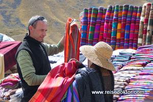 Straßenstand in Peru