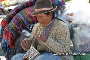 Verkäuferin in Peru