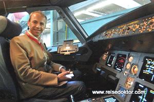 Cockpit Austrian Airlines