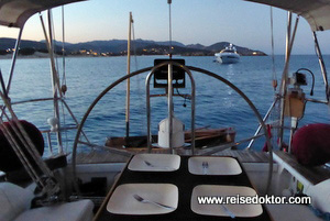 Abendessen am Boot