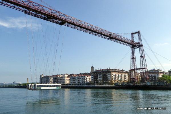 Biskaya Brücke in Bilbao