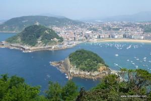Die Umgebung von San Sebastián im Baskenland