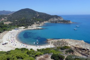 Ein Tag in der Bucht von Chia - Sardinien