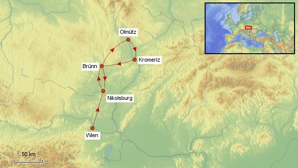 Reisekarte Tschechien