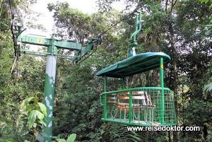 Mit der Seilbahn durch und über den Regenwald