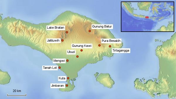 Reisekarte Bali