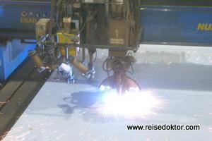 Meyer Werft Stahlschnitt