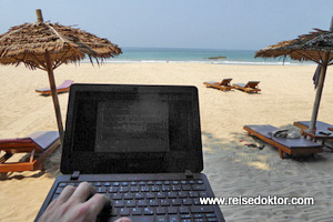 Arbeiten am Ngapali Strand