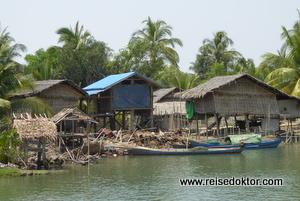 Bootsfahrt Mrauk U Sittwe