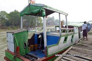 Bootsfahrt Sittwe Mrauk U
