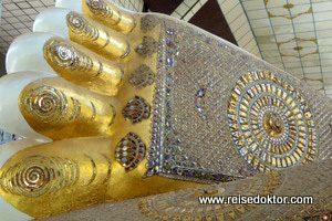 Buddha Füsse in Bago