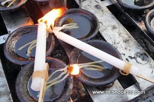 Kerzen Shwedagon Myanmar