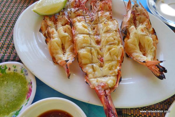 Meeresfrüchte Ngapali Strand