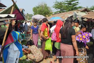 Mrauk U Markt Myanmar