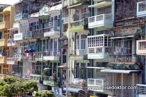 Yangon Häuser