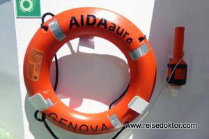 AIDAaura Rettungsring