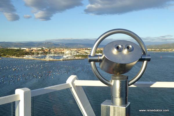 AIDAaura Olbia Hafeneinfahrt