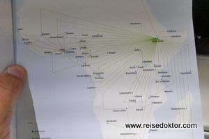 Streckennetz Ethiopian Airlines