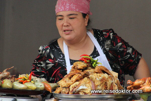 Usbekistan Marktfrau